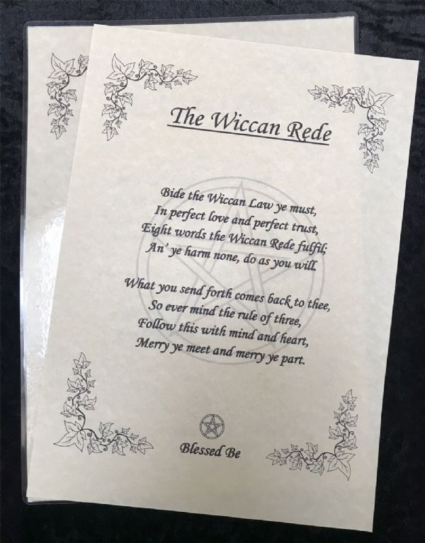 The Wiccan Rede A4 Laminated Poster - Short Version